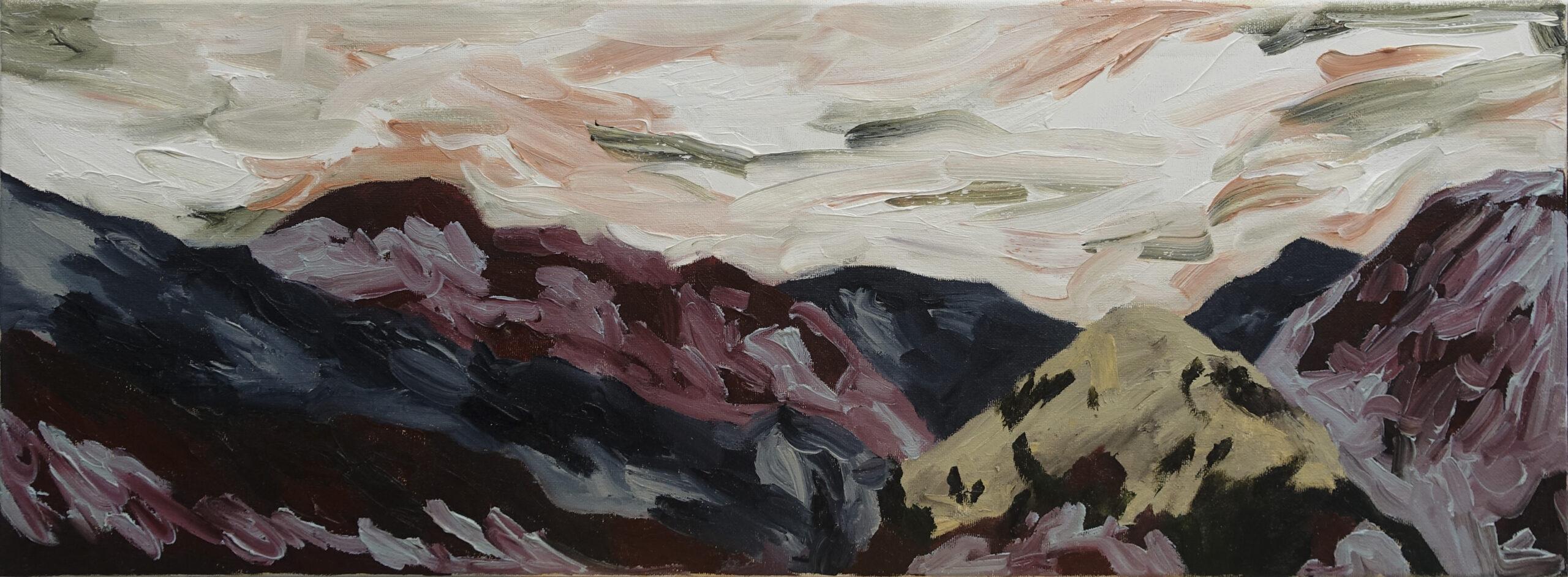 After, 2020, Oil on canvas, 30cm x 80cm, £350, Carina Santos
